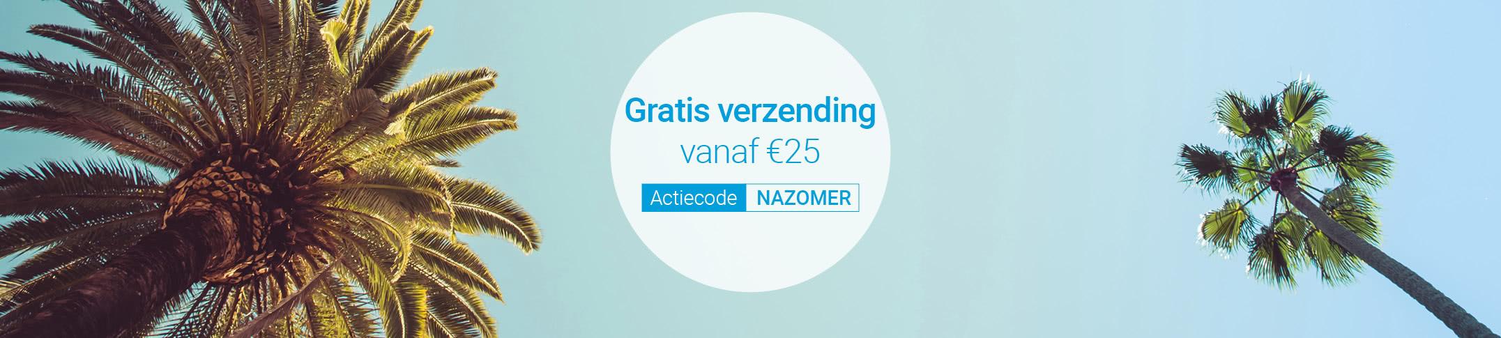 Geniet vanaf gratis verzending vanaf €25!