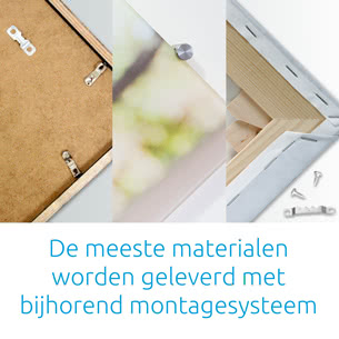De meeste materialen worden geleverd met bijhorend montagesysteem