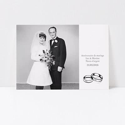 Invitations personnalisees anniversaire de mariage