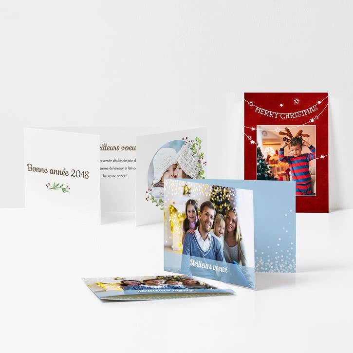carte bonne année 2018 personnalisée avec photos