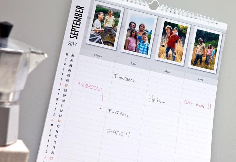 Personalisieren Sie Ihren Familienplaner