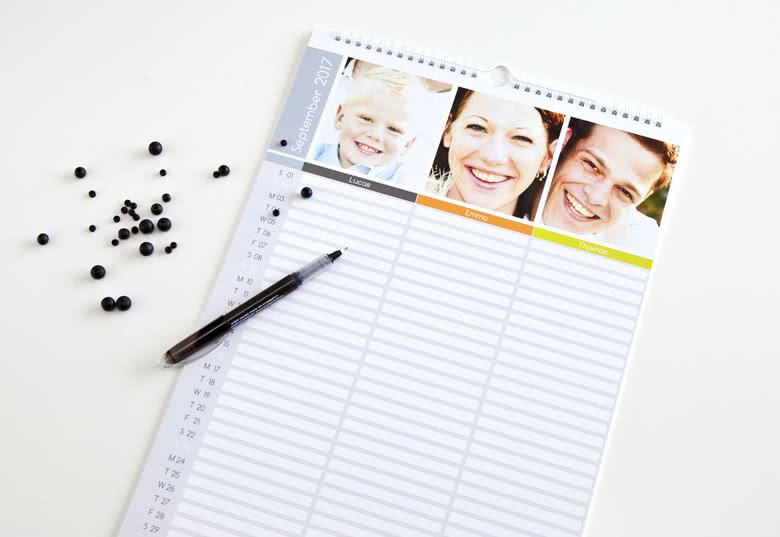 Bestellen Sie Ihren eigenen Familienplaner