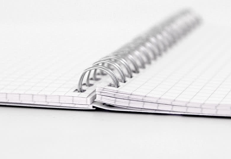 Fotoschrift met een metalen spiraalbinding