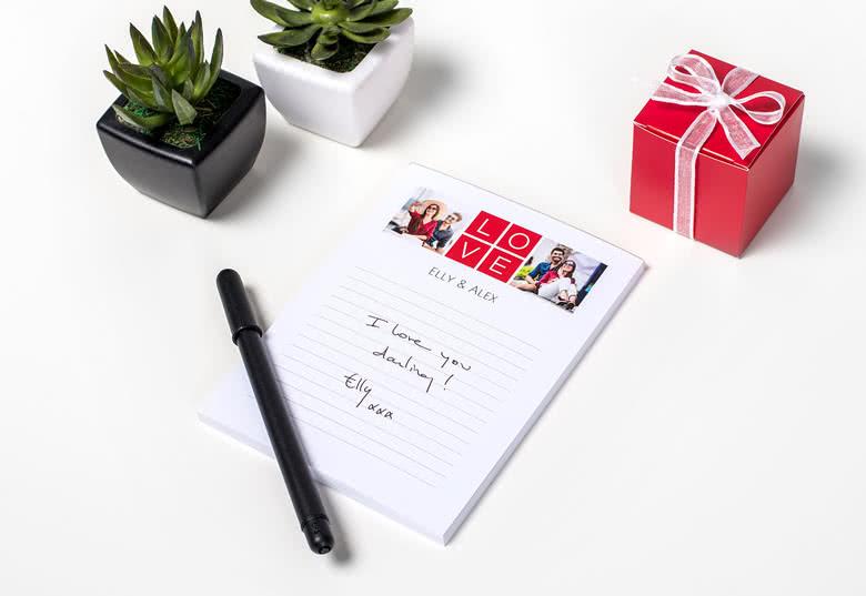 Beställ ditt personliga anteckningsblock