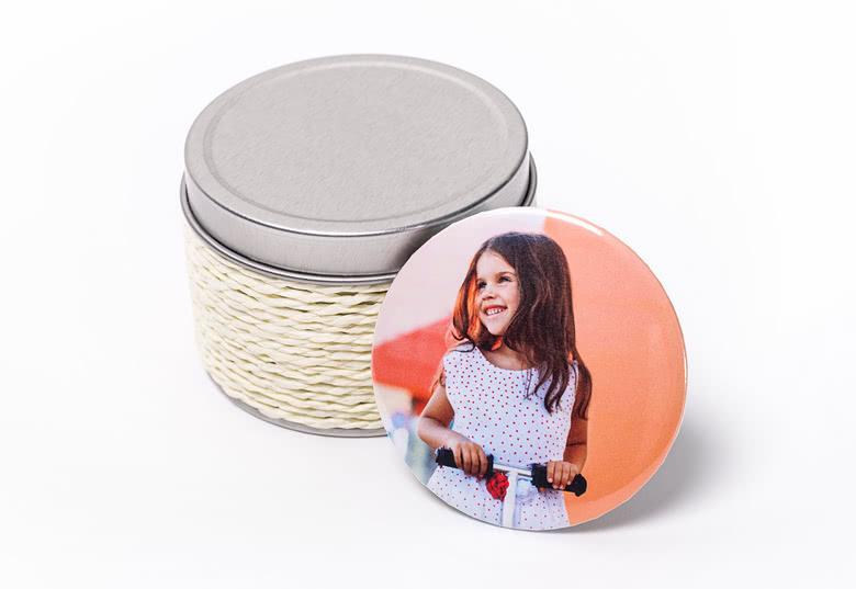 Theelichten met magneet button