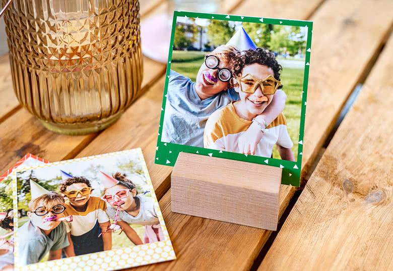 Porte-photo design avec photos