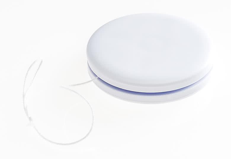 Witte plastic jojo's