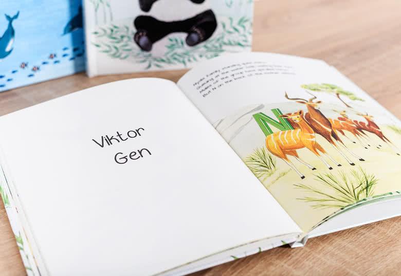 MyNameBook - En personlig sagobok med djur