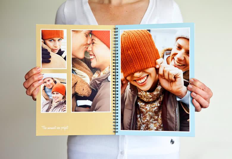 Fotoboek L staand - spiraalbinding
