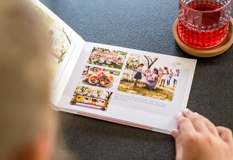Fotobok medium liggande hårt omslag