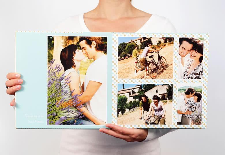 Fotobok XL kvadratisk deluxe hårt omslag