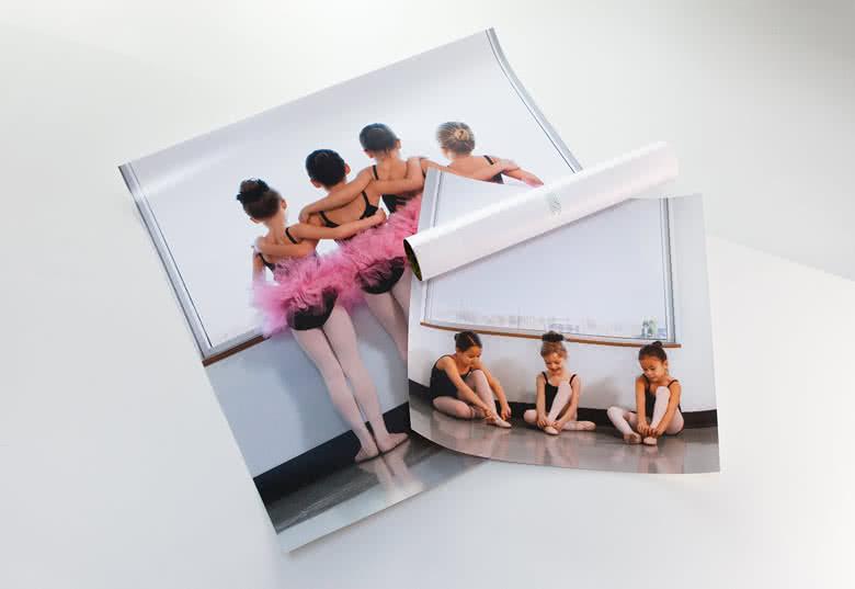 Fotoförstoring tryckt på fotopapper av hög kvalitet