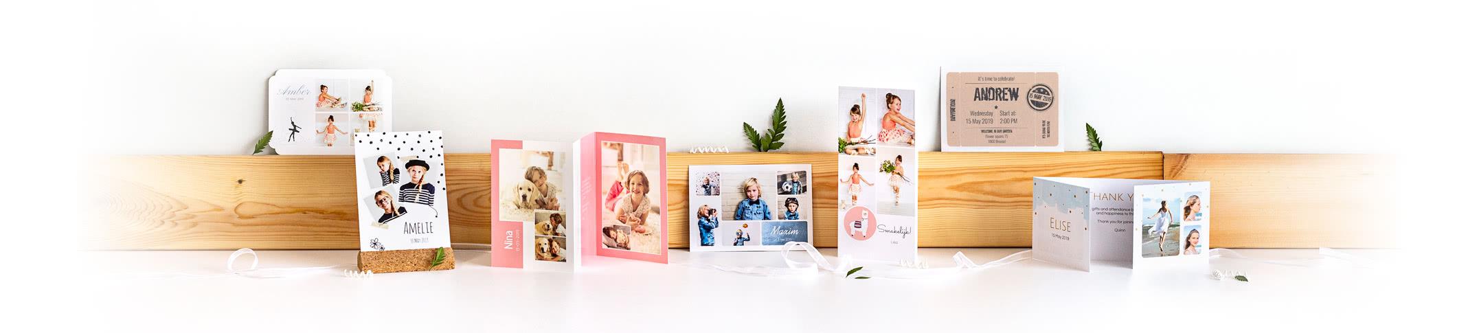 Fotokort - Skapa inbjudningskort och tackkort för födelsedag, kalas, bröllop, dop, student och konfirmation