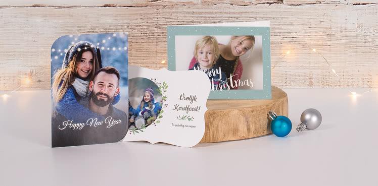 Kerstkaarten met eigen foto's
